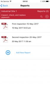 snag audit pro add report listing 169x300 - Site Report Pro - Create Report